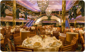 Dining room on Carnival Splendor