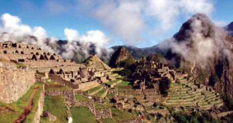 The Machu Pichu in Peru