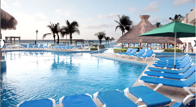 Pool view at Royal Solaris