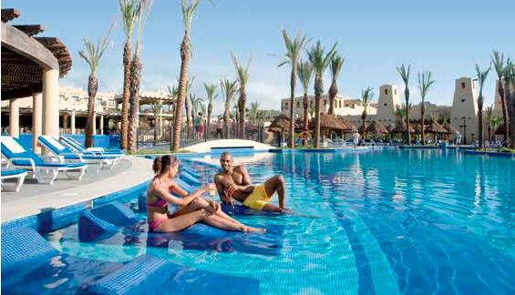 Pool view at Hotel Riu Santa Fe