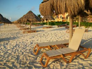 Sandy beach in Riviera Maya