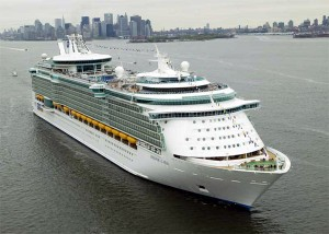 Cruise ship from the fleet of Royal Caribbean