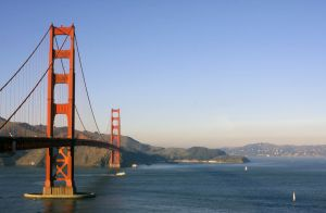 View over the Golden Gate Bridge in San Francisco