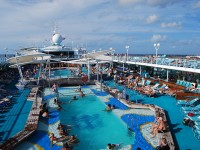 Pool on a cruise ship