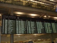 Flight schedule at an airport