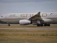 Etihad Airways plane with airline logo