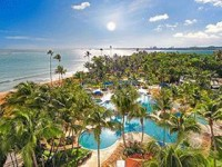 Puerto Rico beach and pools