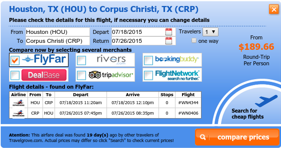 Cheap Houston to Corpus Christi flight