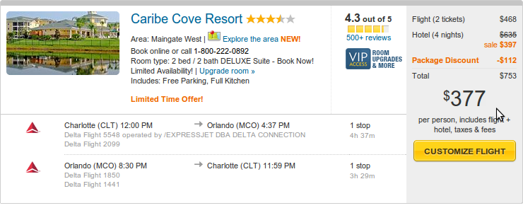 Caribe Cove Resort from 377 by Expedia