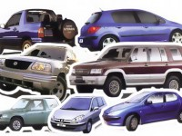 Cars for rent, different types