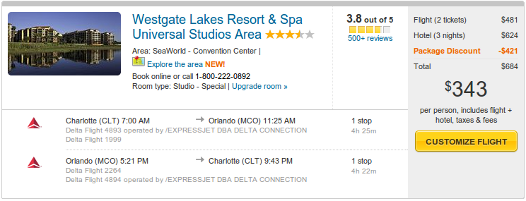 Westgate Lakes Resort-and Spa from 344 by Expedia