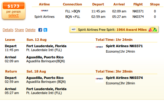 Cheap flights to aguadilla bqn with spirit airlines from for Spirit airlines ticket prices