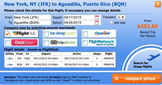 New York City to Aguadilla flight deal