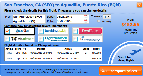 Fly from San Francisco to Aguadilla
