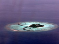 Atoll on Maldives