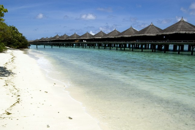 Maldives beach and resorts
