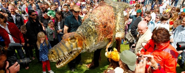 Dinosaur petting at the Galway Arts Festival