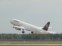 Lufthansa airplane taking off