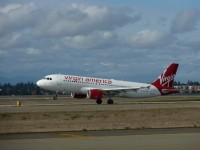 Virgin America aircraft taking off
