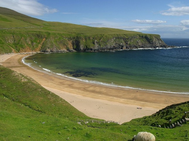 Silver Strand in Co Donegal, Ireland
