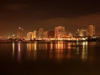 Manila skyline by night