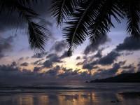 Phuket beach sunset
