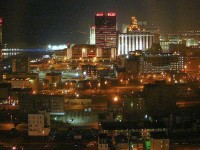 Atlantic City skyline by night