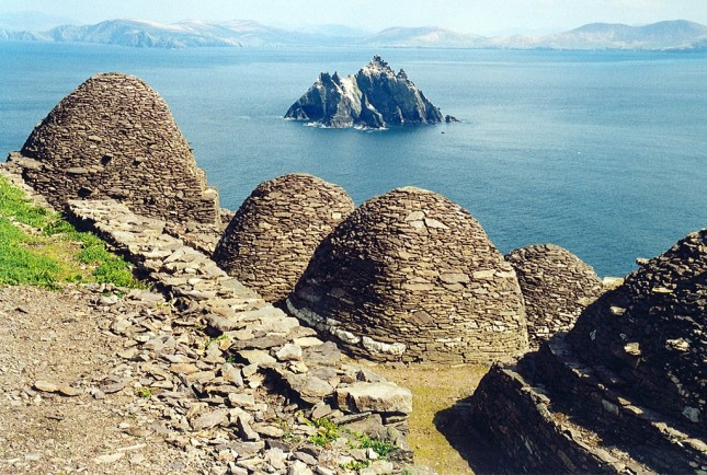 Skellig Michael and beehive cells of the monks