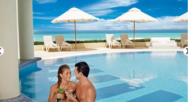 Pool view at Live Aqua Cancun Resort