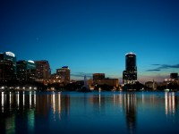 Downtown Orlando by night