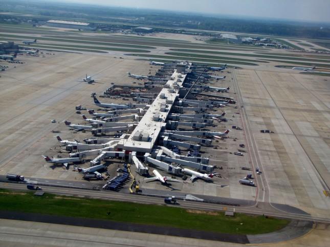Airplanes at the Atlanta Airport