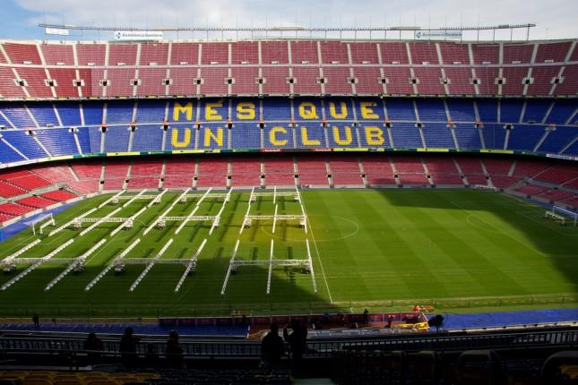 Inside Camp Nou