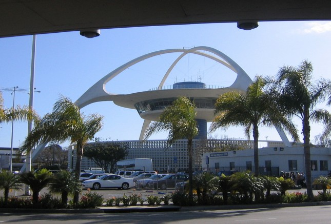 The theme building of Los Angeles Airport