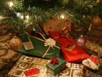 Winter holidays - presents under the tree