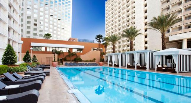 Pool view at Harrah's Las Vegas Hotel and Casino