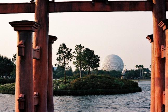 View at Epcot theme park, Disney World, Florida