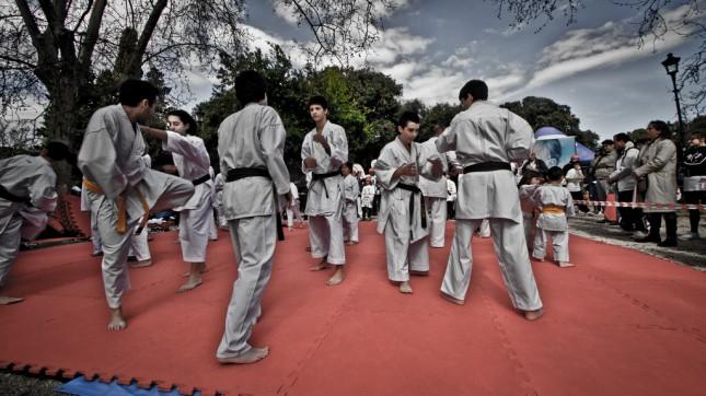 Karate presentation in Okinawa