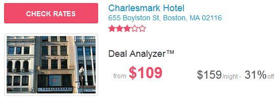 Charlesmark Hotel in Boston for $109 per night