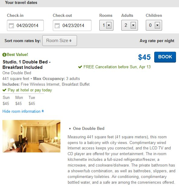 LK Legend luxury hotel in Pattaya for $45 details