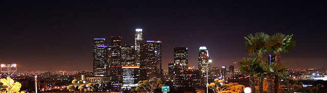Los Angeles skyline from Dodger Stadium, ©jondoeforty1/Flickr