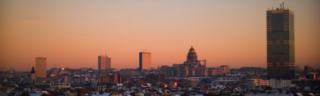 Brussels skyline, Belgium