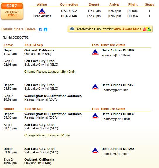 Oakland to Richmond flight details