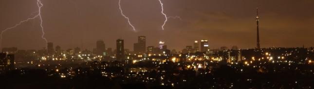 Johannesburg in storm
