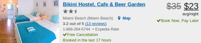 Hotel deal details - Bikini Hostel