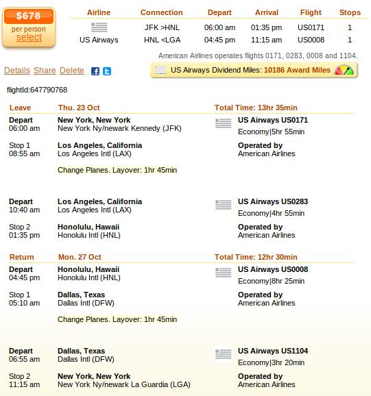 Newark to Honolulu flight deal details