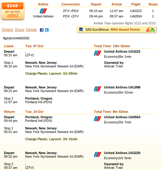 Philadelphia to Portland flight deal details