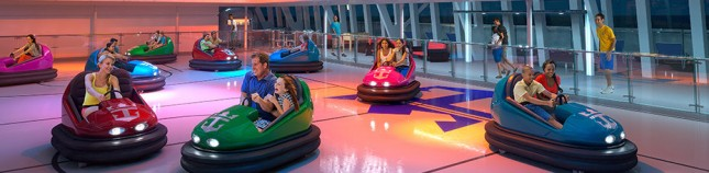Bumper cars on the ship