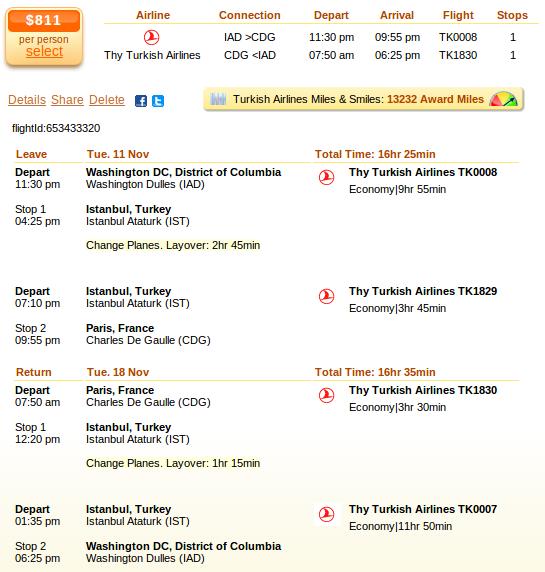 Flight deal details - Washington to London