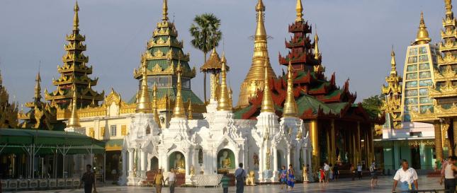 Yangon temples, Myanmar