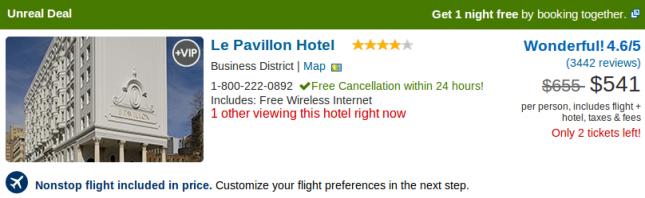 Le Pavillon Hotel - vacation deal details